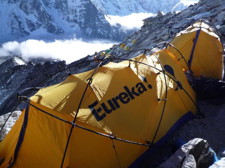 High altitude camping back in the day. 6000m, Ama Dablam 2006