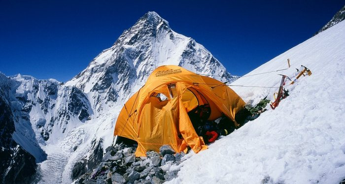High camp overlooking K2