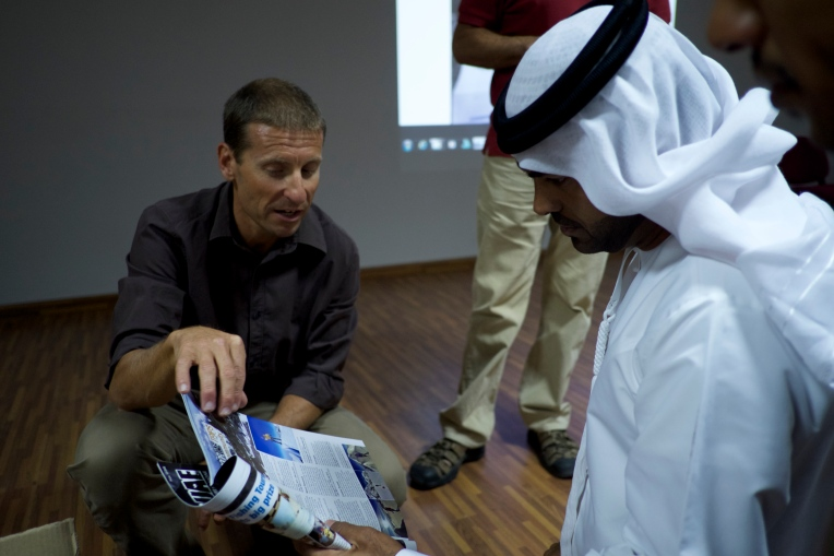 Sharing experiences of 8000m expeditions with the UAE military