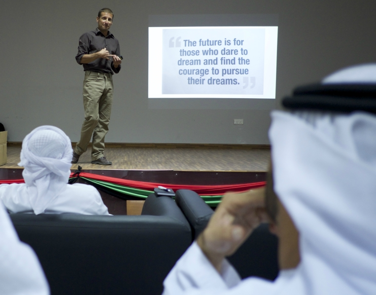Sean presenting in Dubai