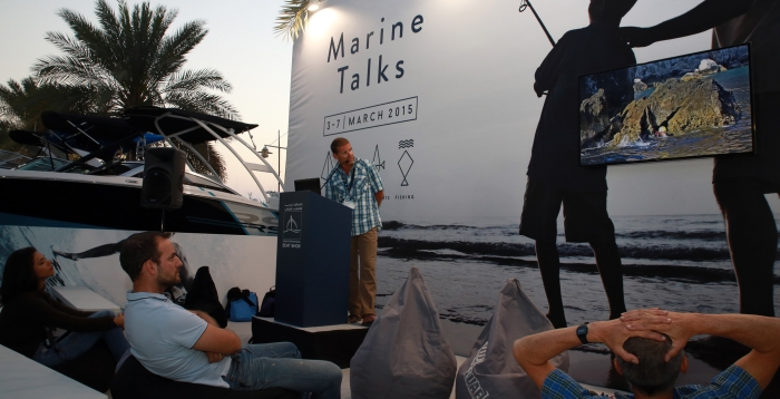 Evening talk about adventure in Musandam, Oman